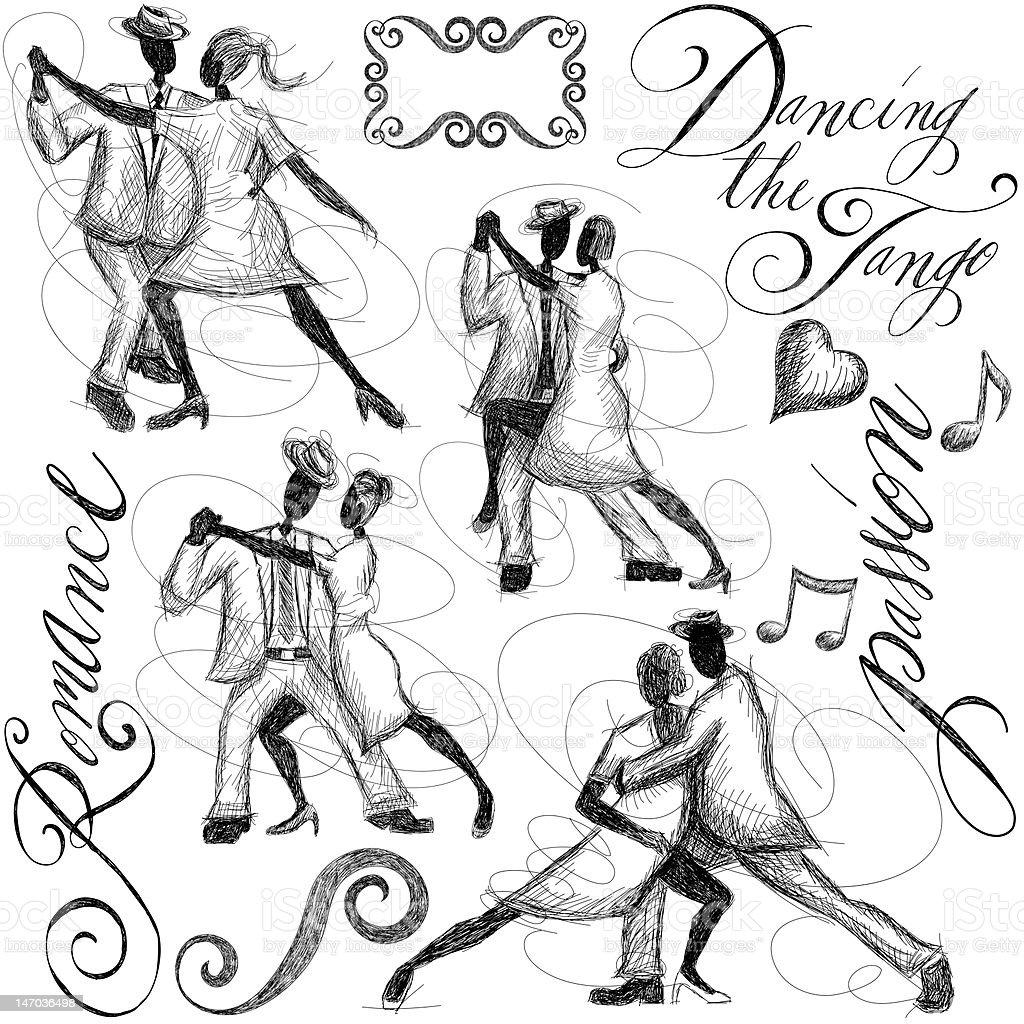 dancing the tango royalty-free stock vector art