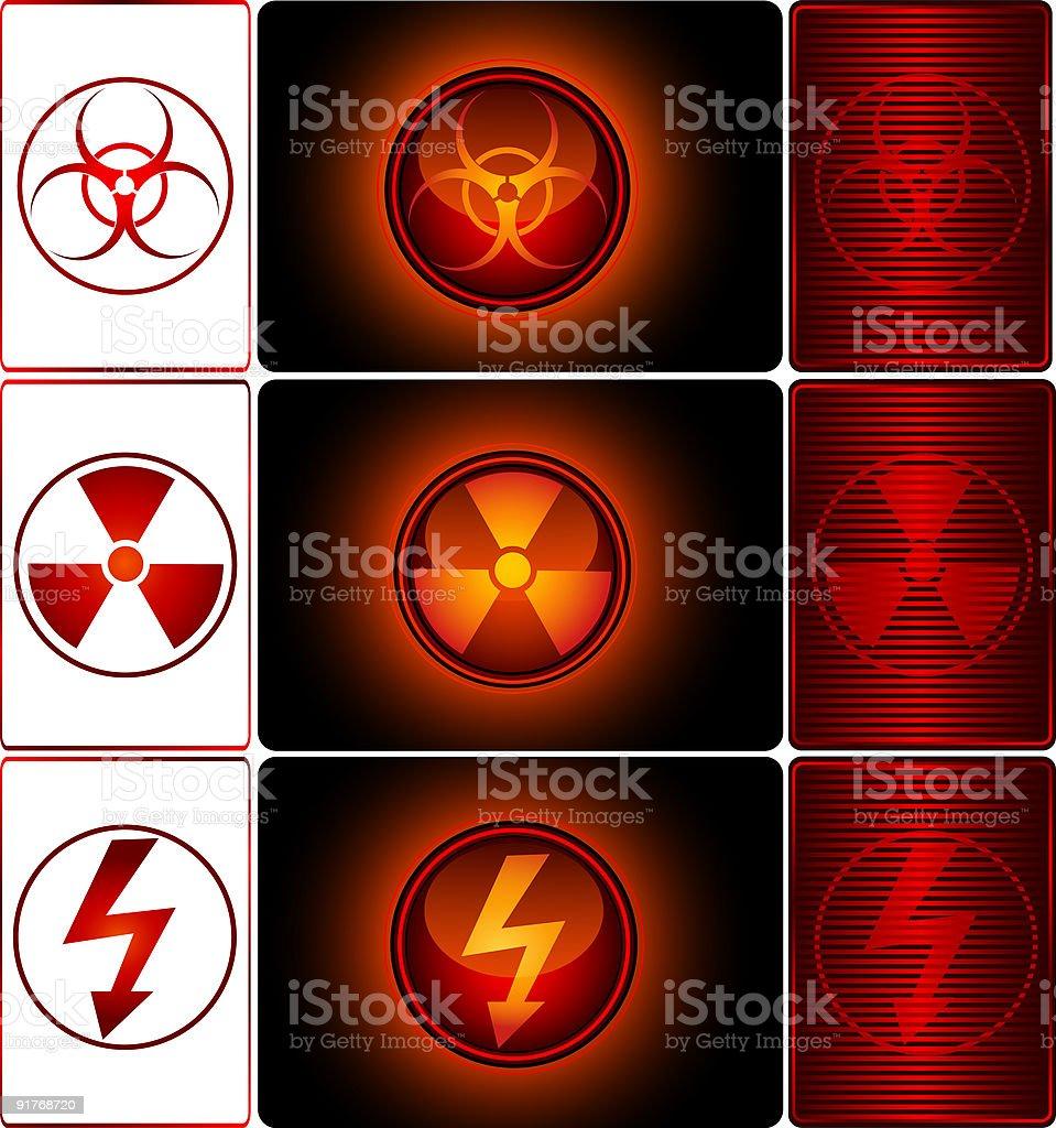 Danger Symbols royalty-free stock vector art