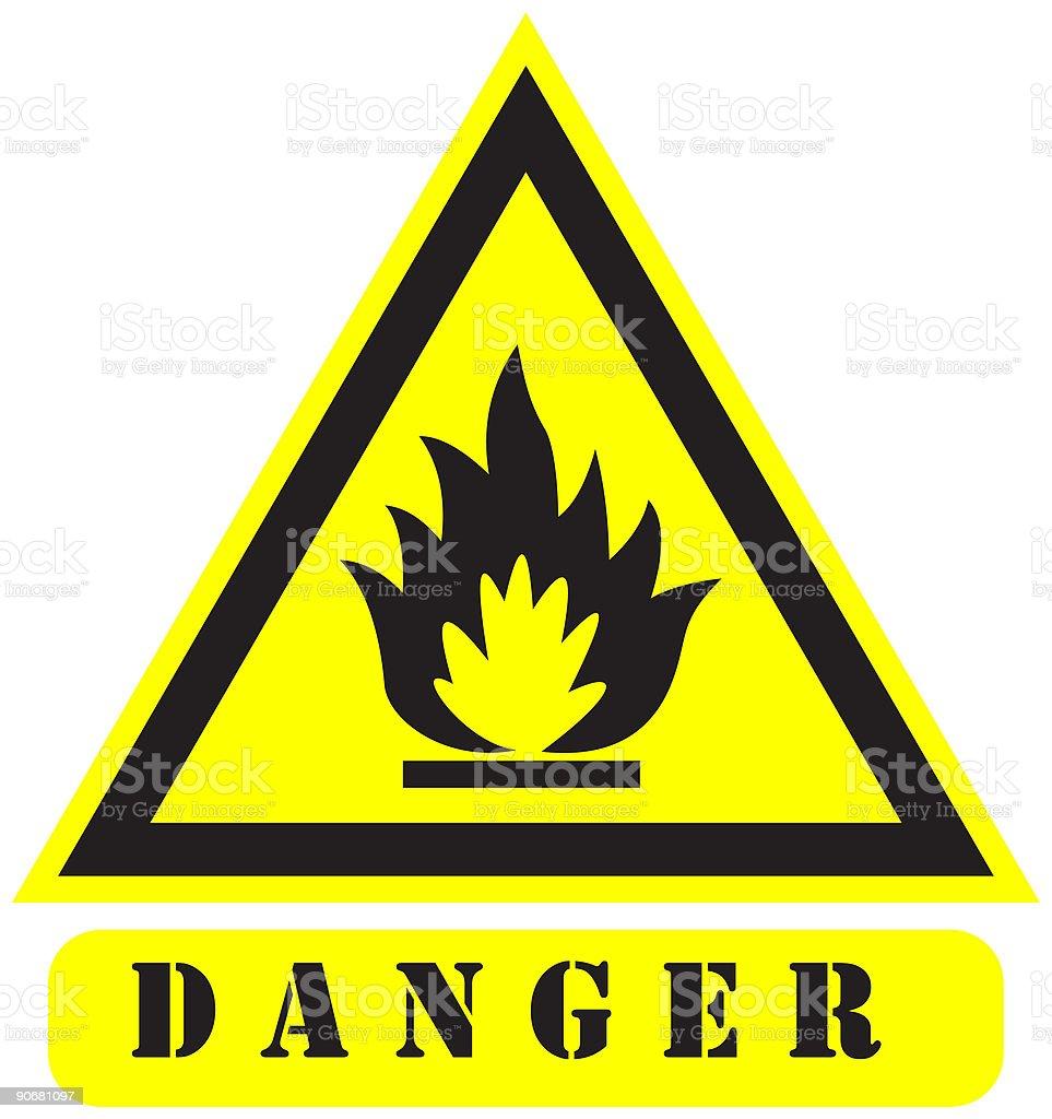 danger13 sign vector art illustration