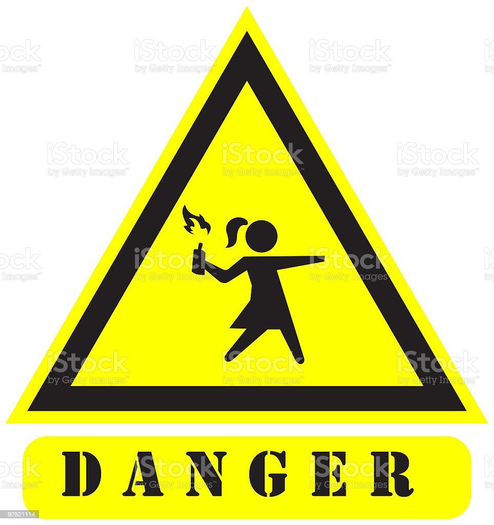 danger9 sign royalty-free stock vector art