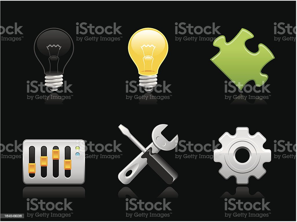 Dark collection - Preferences royalty-free stock vector art