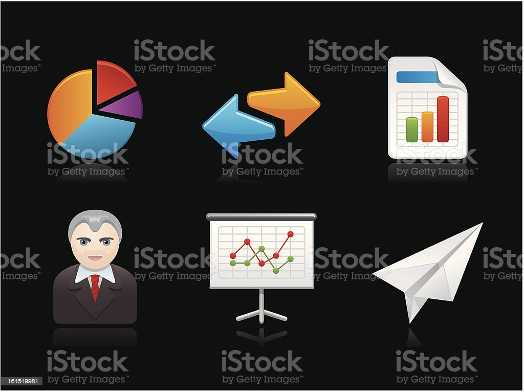 Dark collection - Report royalty-free stock vector art