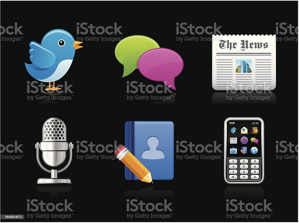 Dark collection - Social Network royalty-free stock vector art