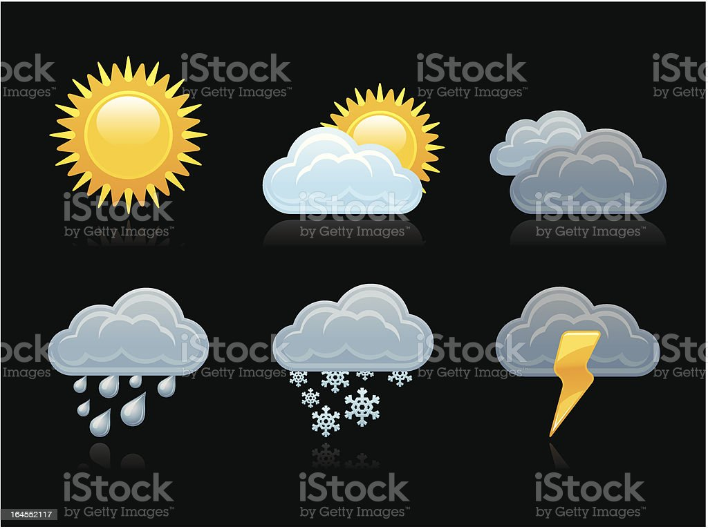 Dark collection - Weather royalty-free stock vector art