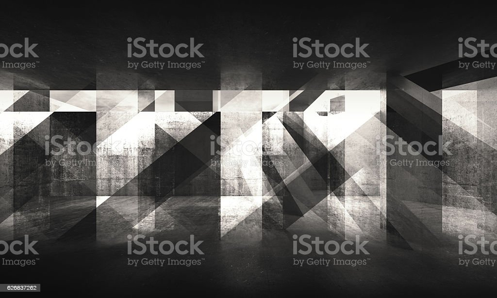 Dark concrete pattern. 3d render vector art illustration