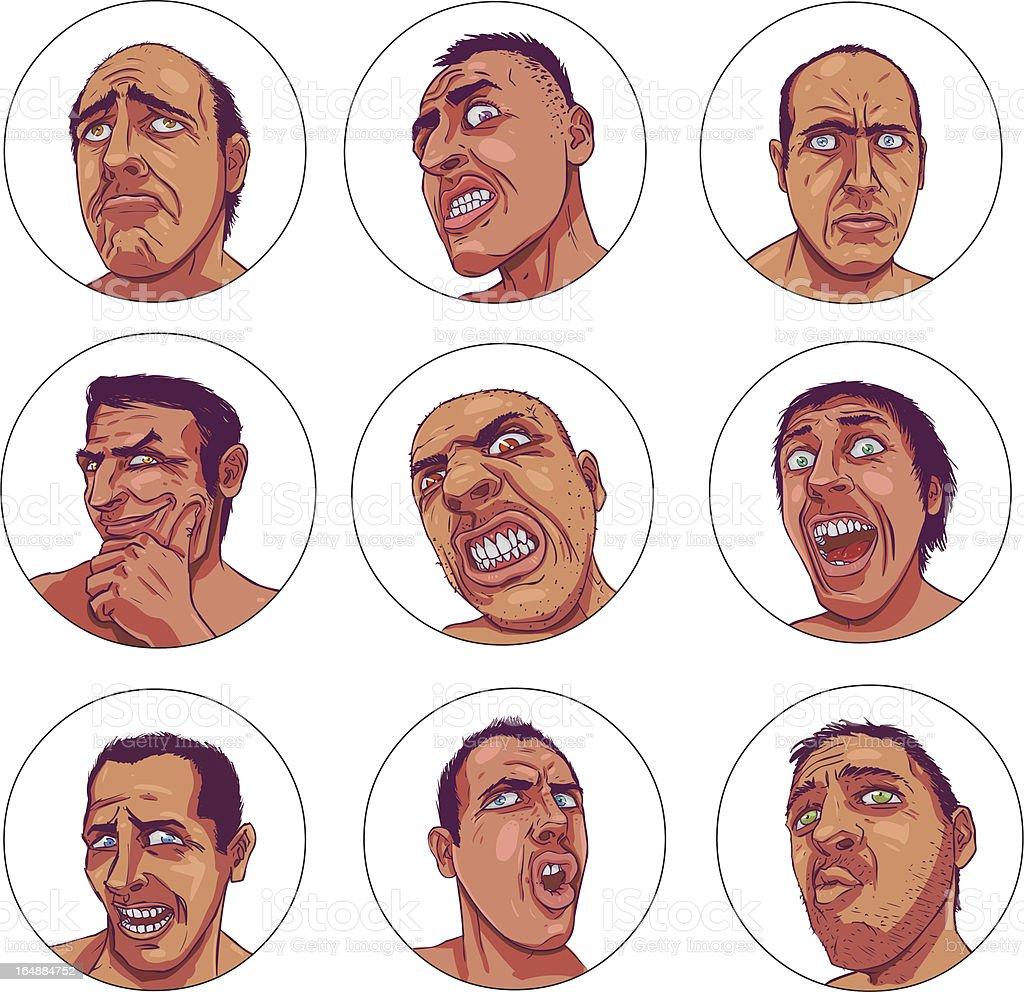 Dark Emotions vector art illustration