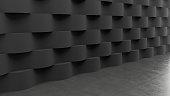 Dark floor with waves concrete pattern background