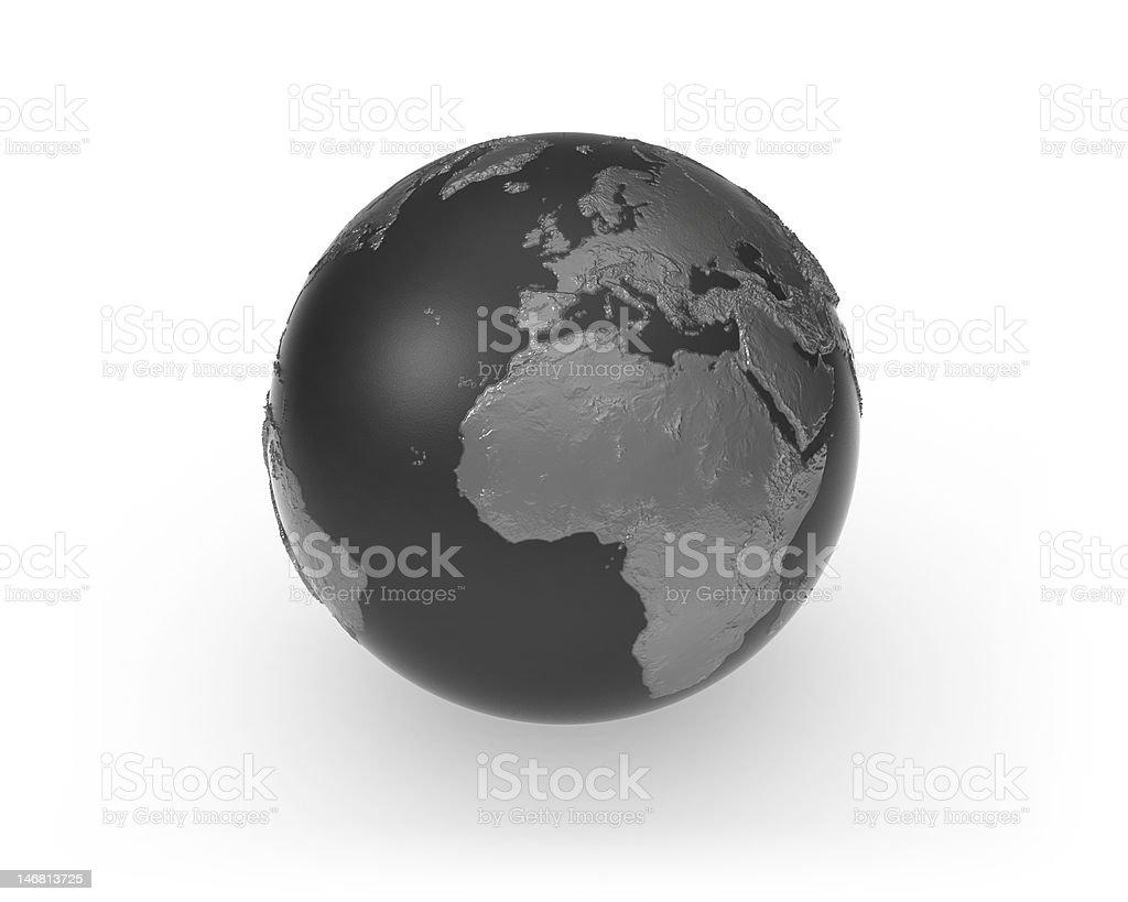 Dark Globe royalty-free stock vector art