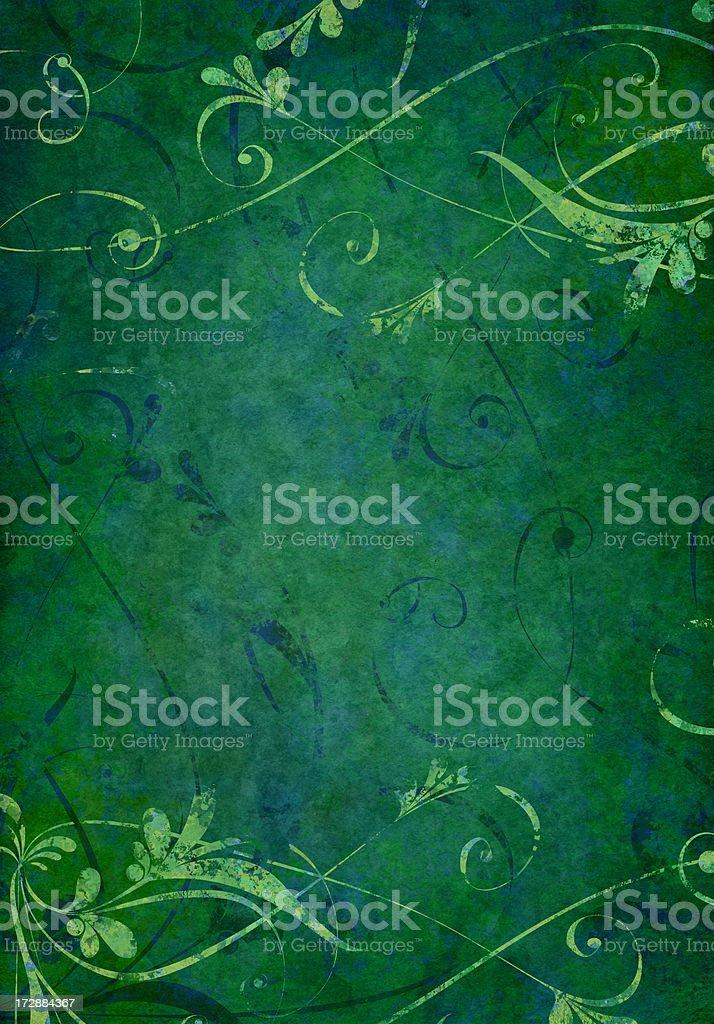 dark green grunge floral background royalty-free stock vector art