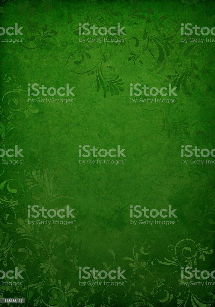 dark green grunge floral background vector art illustration