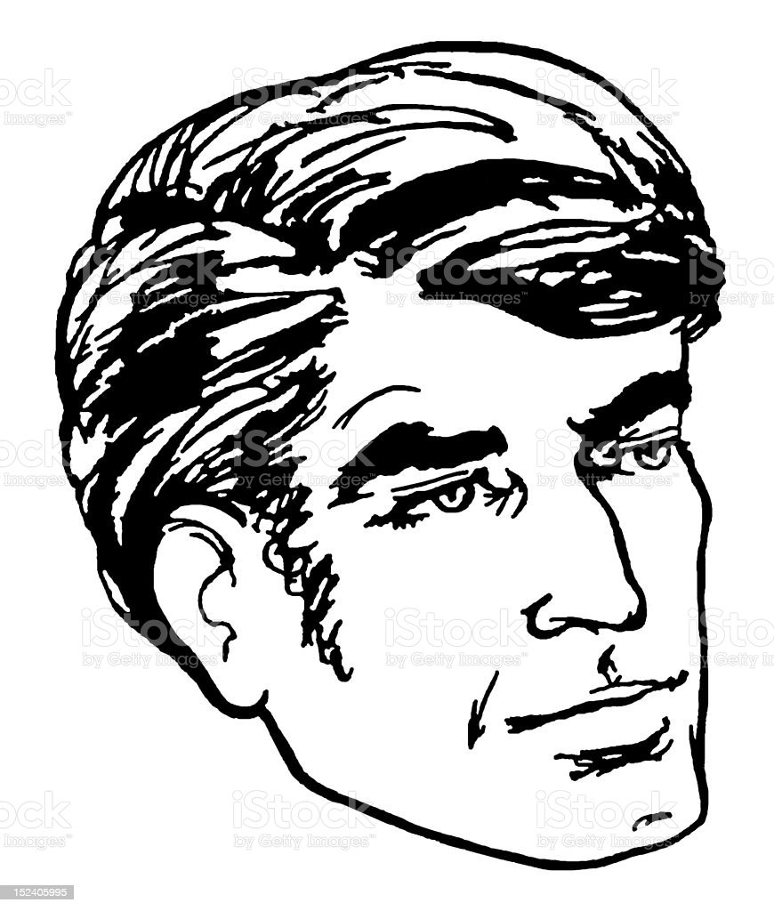 Dark Haired Man royalty-free stock vector art