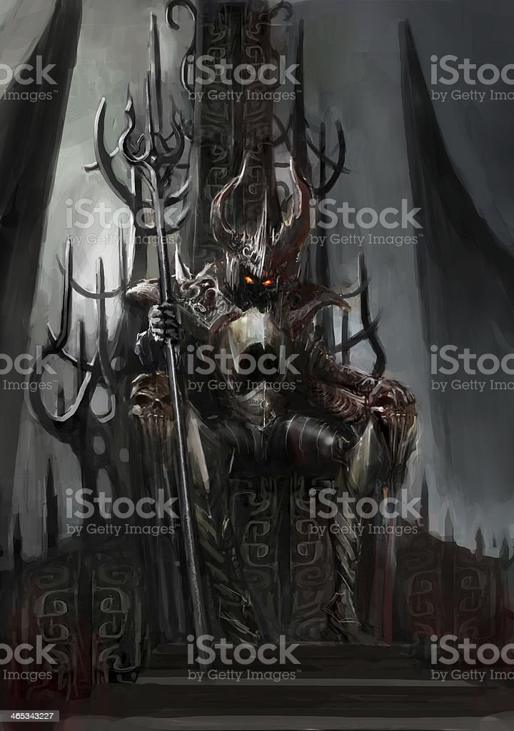 dark king vector art illustration