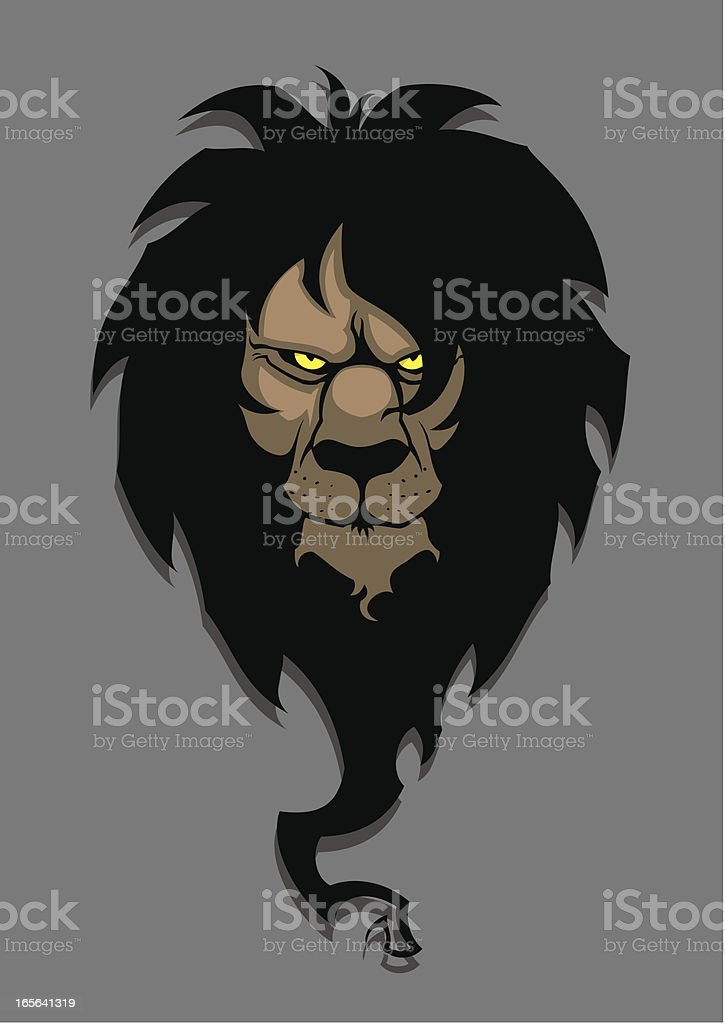 Dark lion royalty-free stock vector art