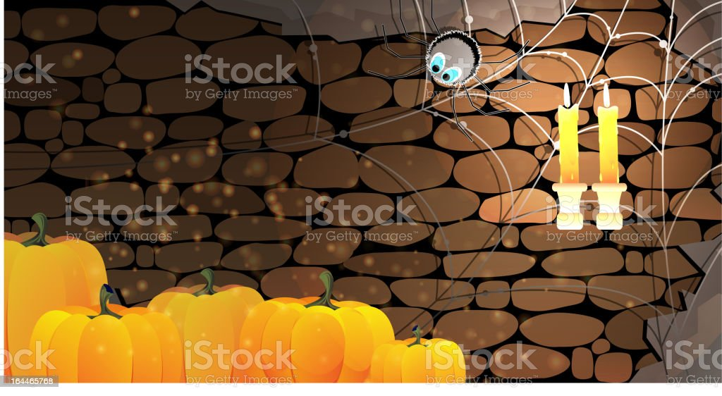 Dark stone dungeon. Halloween background. royalty-free stock vector art
