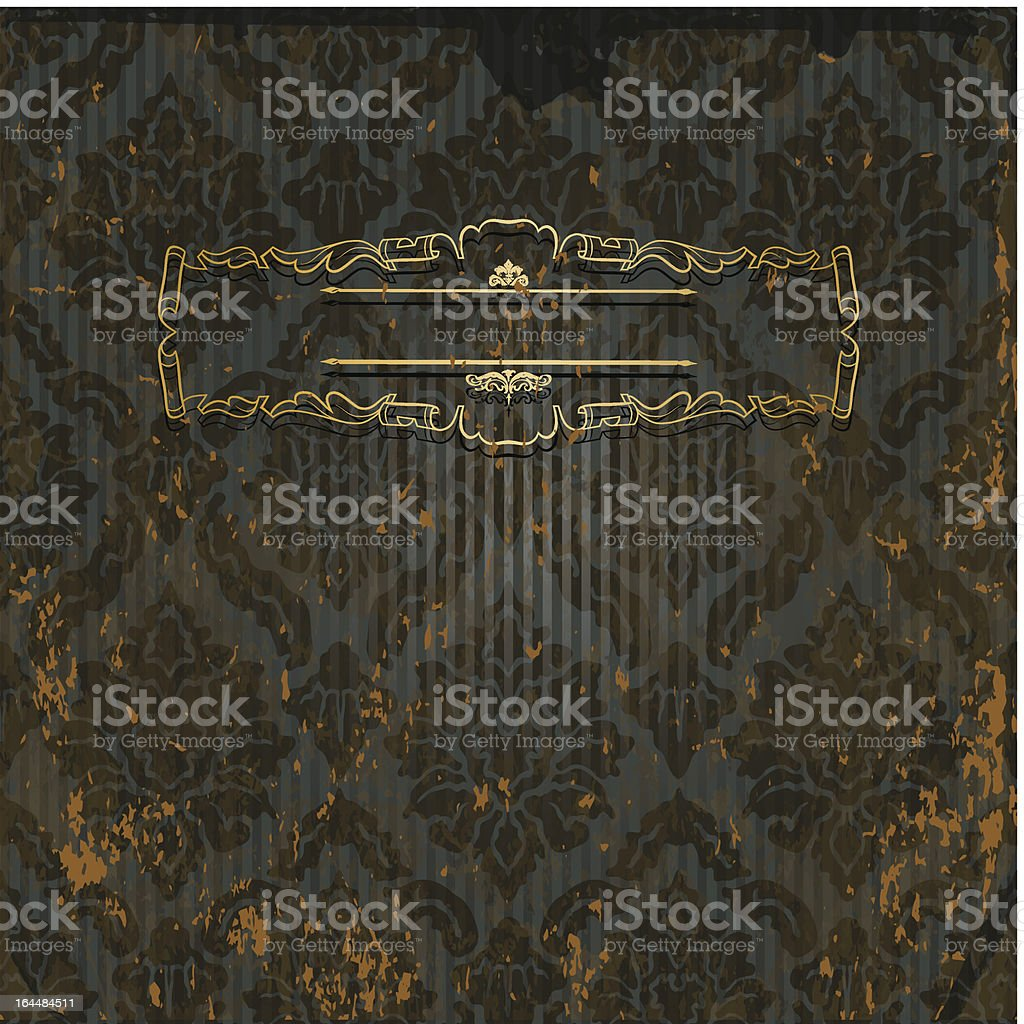 Dark vintage background royalty-free stock vector art