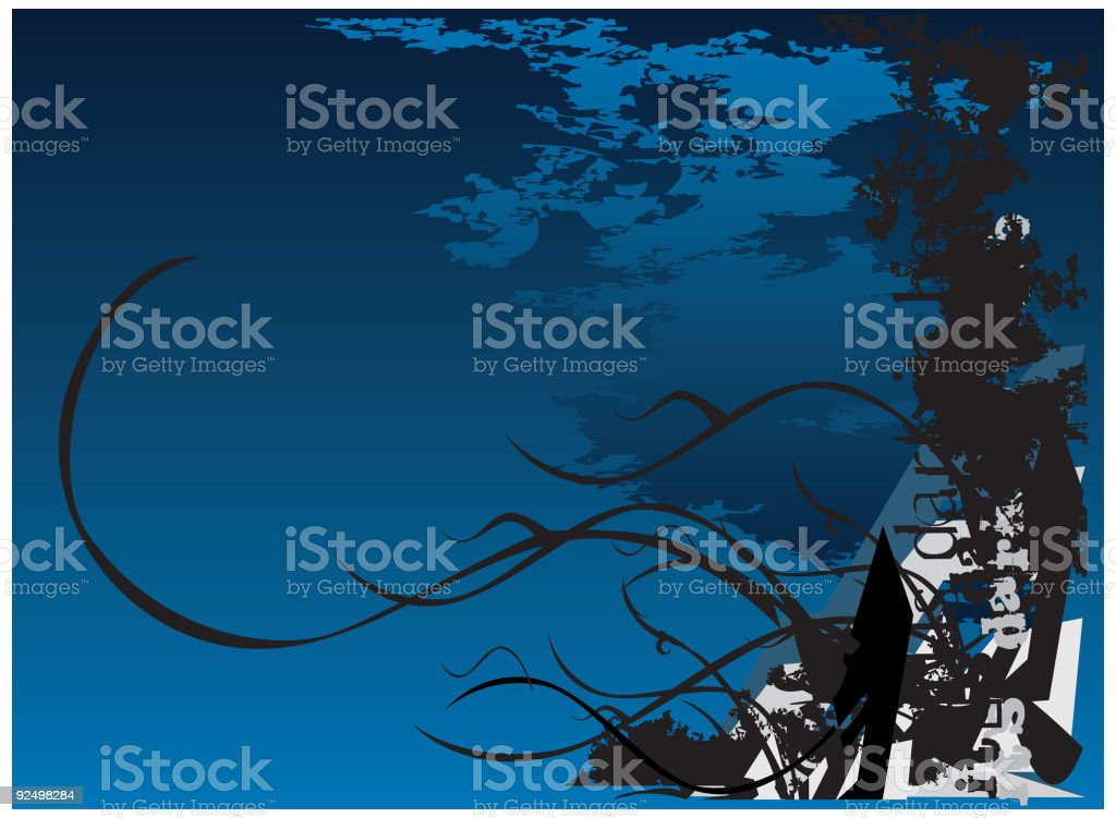 dark witch background  VECTOR royalty-free stock vector art