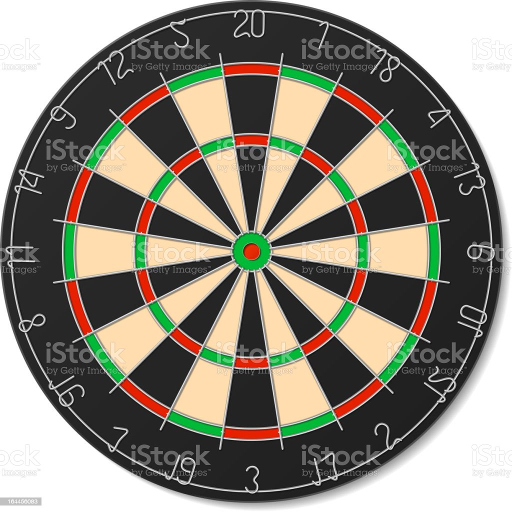 Dartboard royalty-free stock vector art