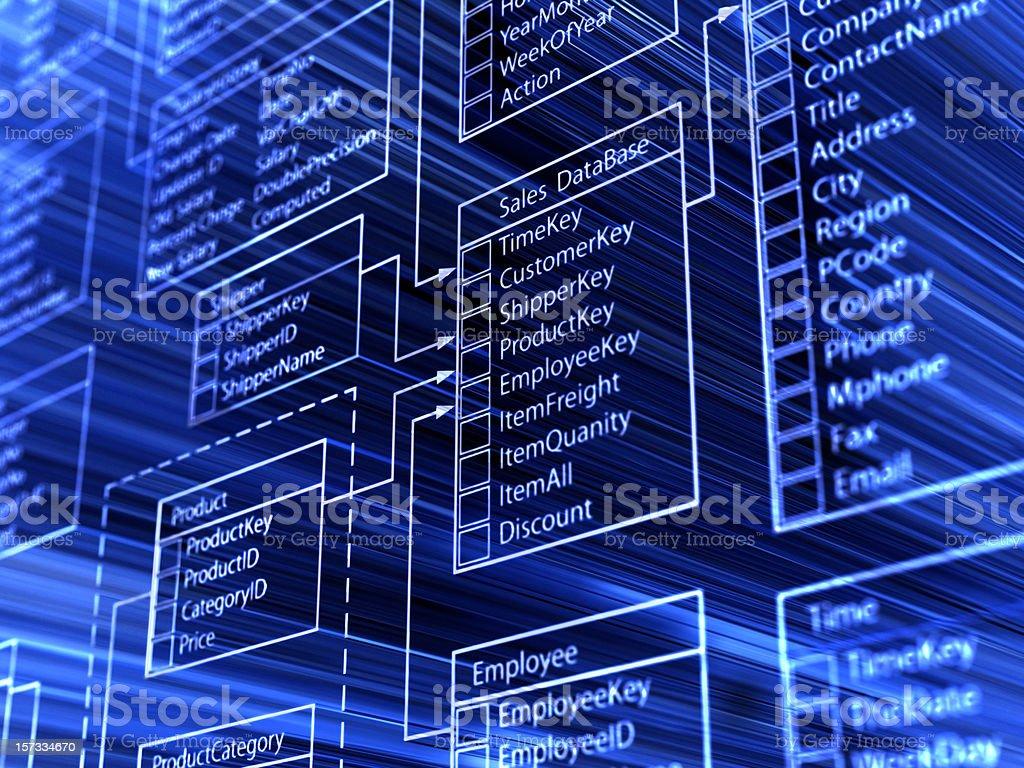 database royalty-free stock vector art