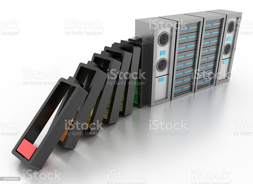 Datacenter and Energy vector art illustration