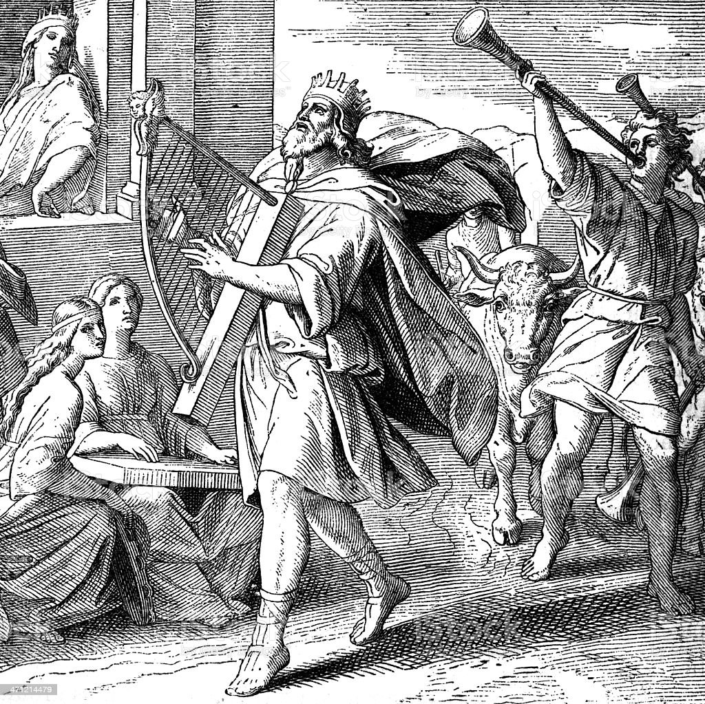 David and the Ark vector art illustration