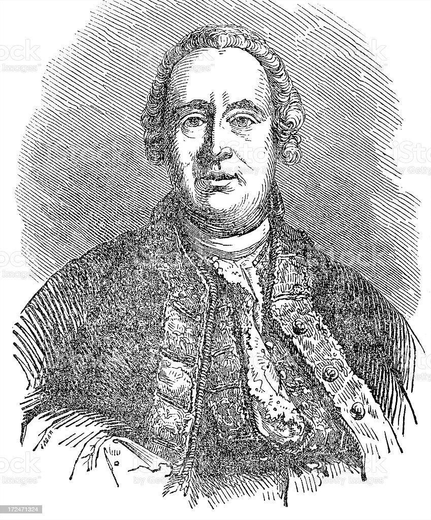 David Hume royalty-free stock vector art