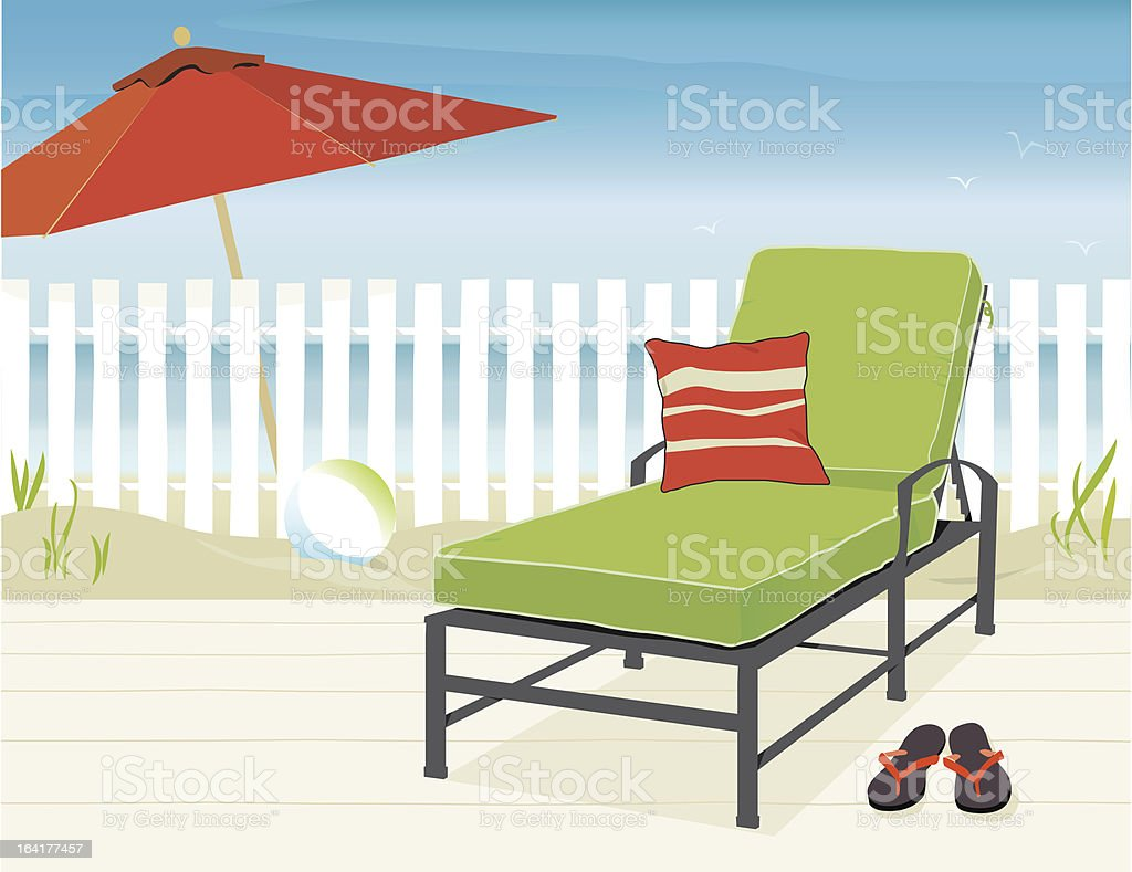 Day at the Beach vector art illustration