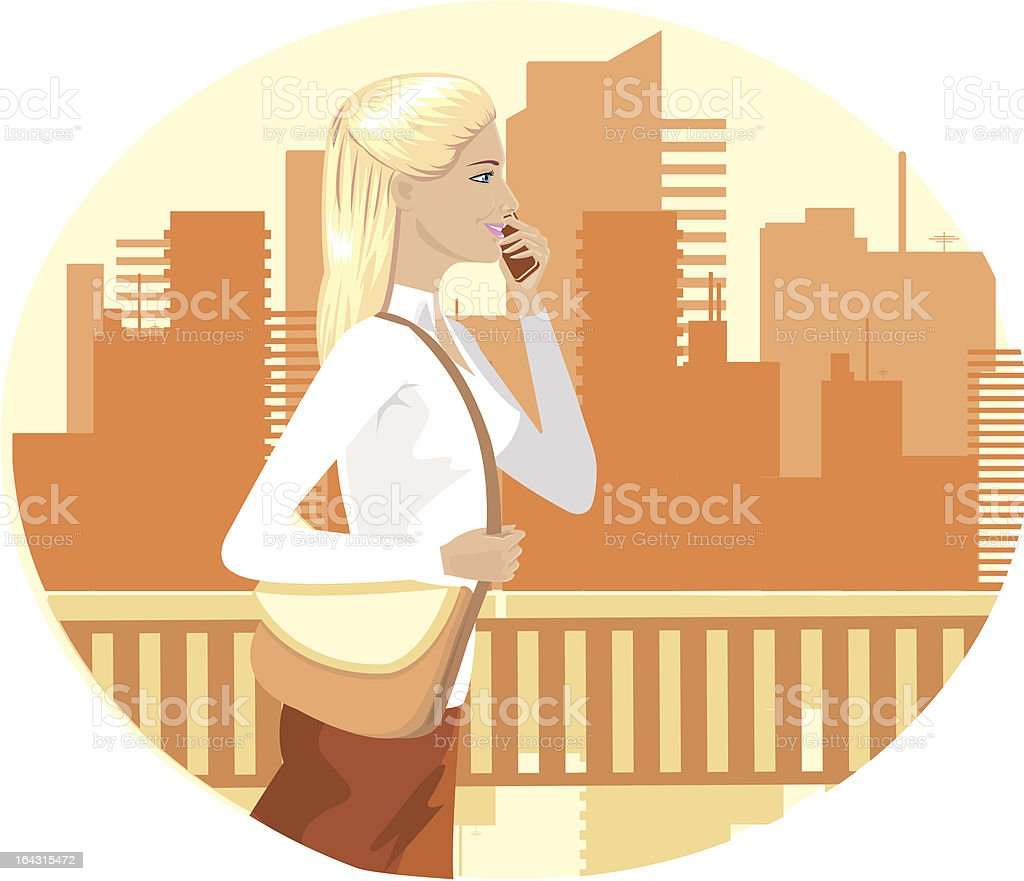 day in town royalty-free stock vector art