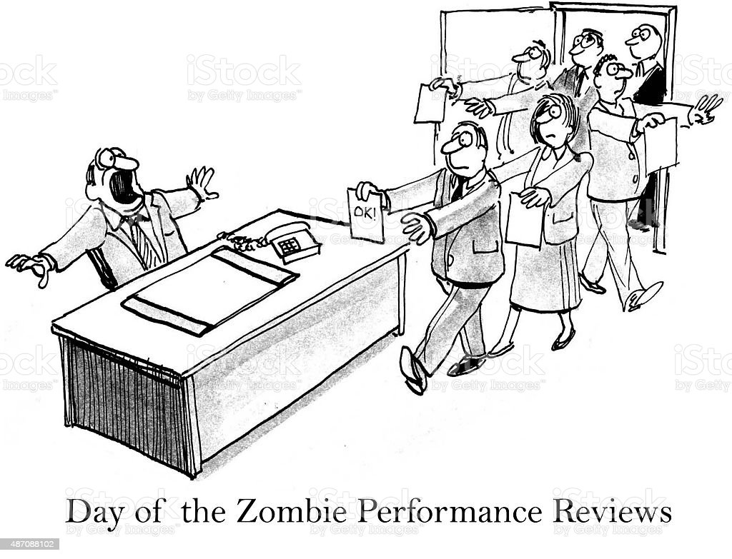 Day of the Zombie Performance Reviews vector art illustration