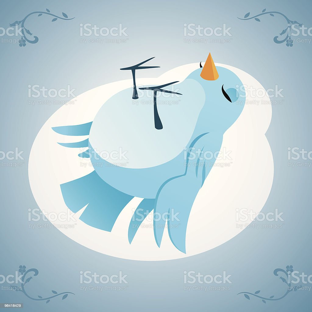 dead bird vector art illustration