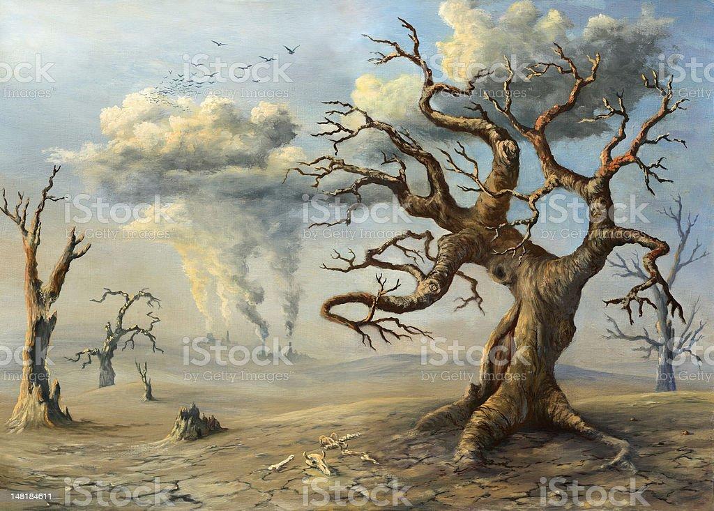 Dead land royalty-free stock vector art