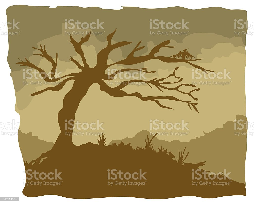 Dead Tree vector art illustration