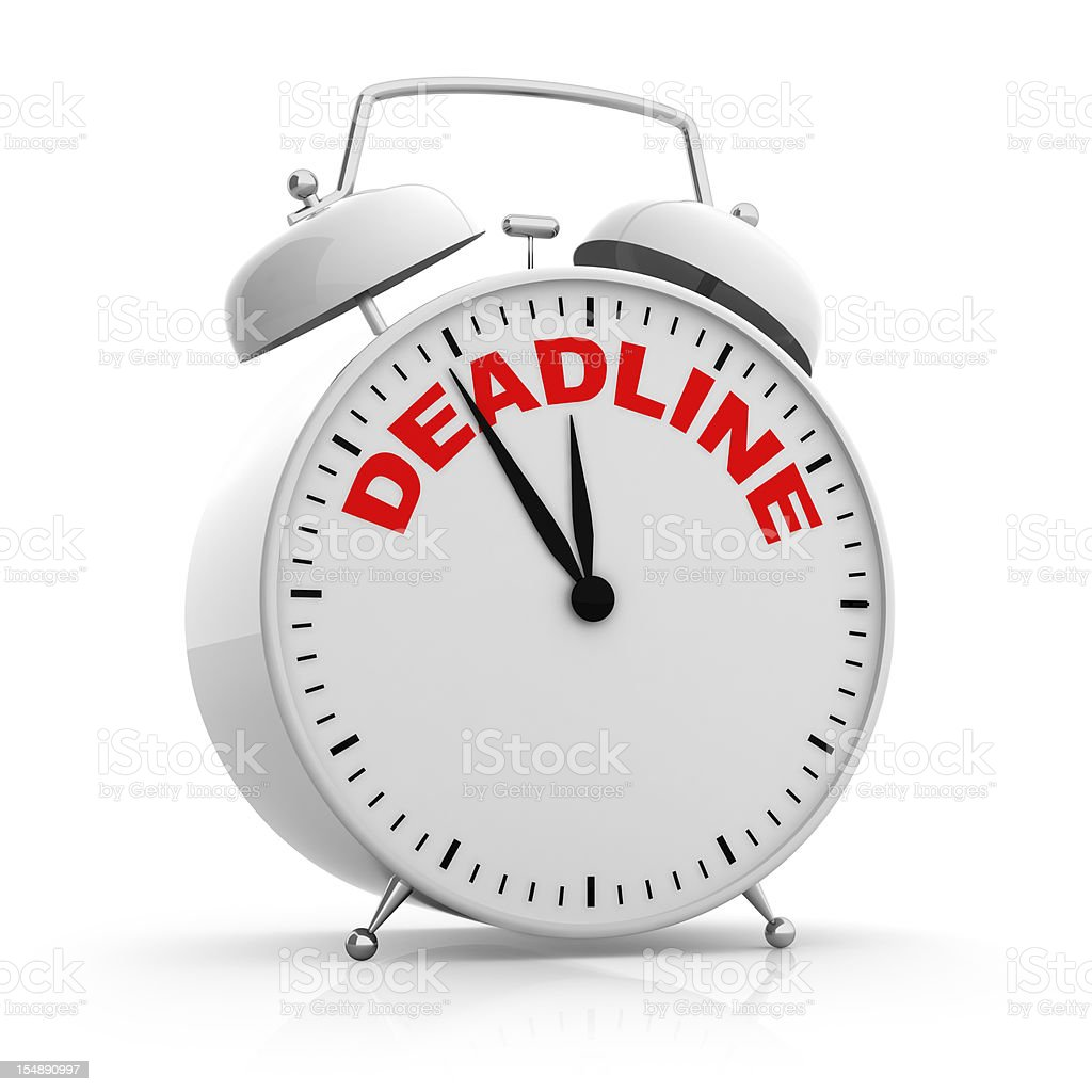 Deadline Alarm Clock vector art illustration