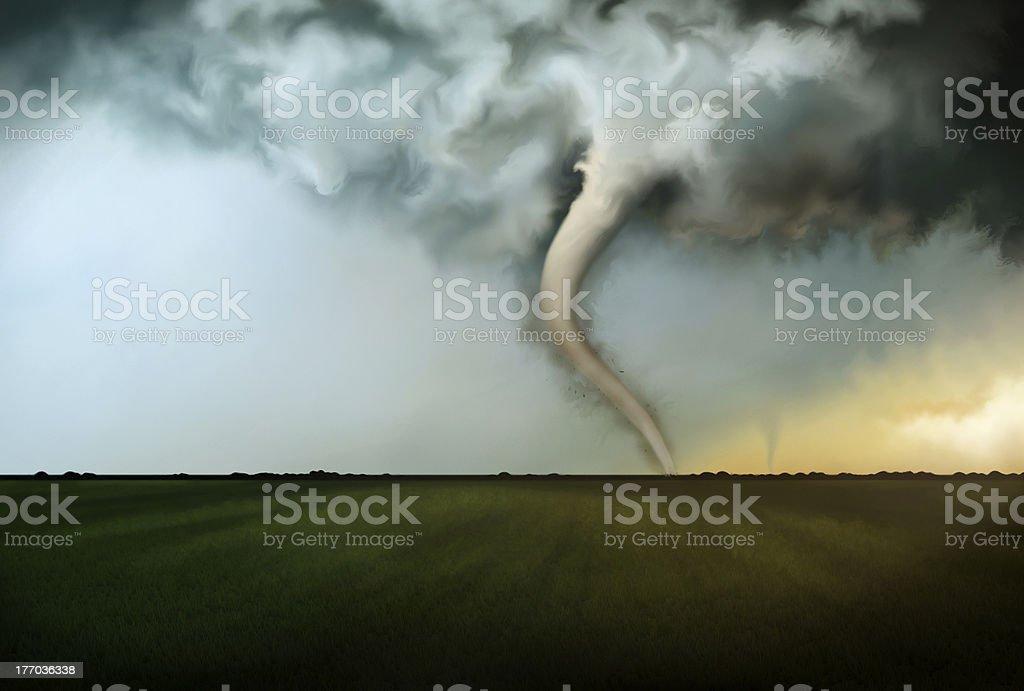 Deadly Tornado royalty-free stock vector art