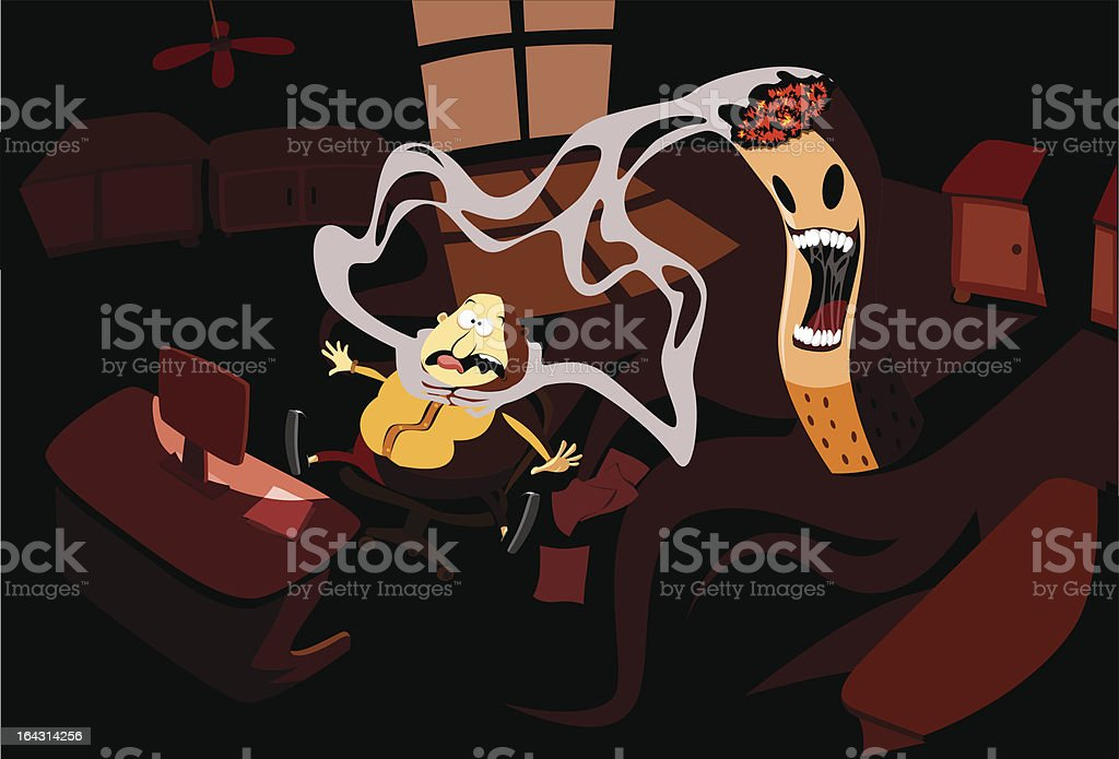 Death by cigarette royalty-free stock vector art