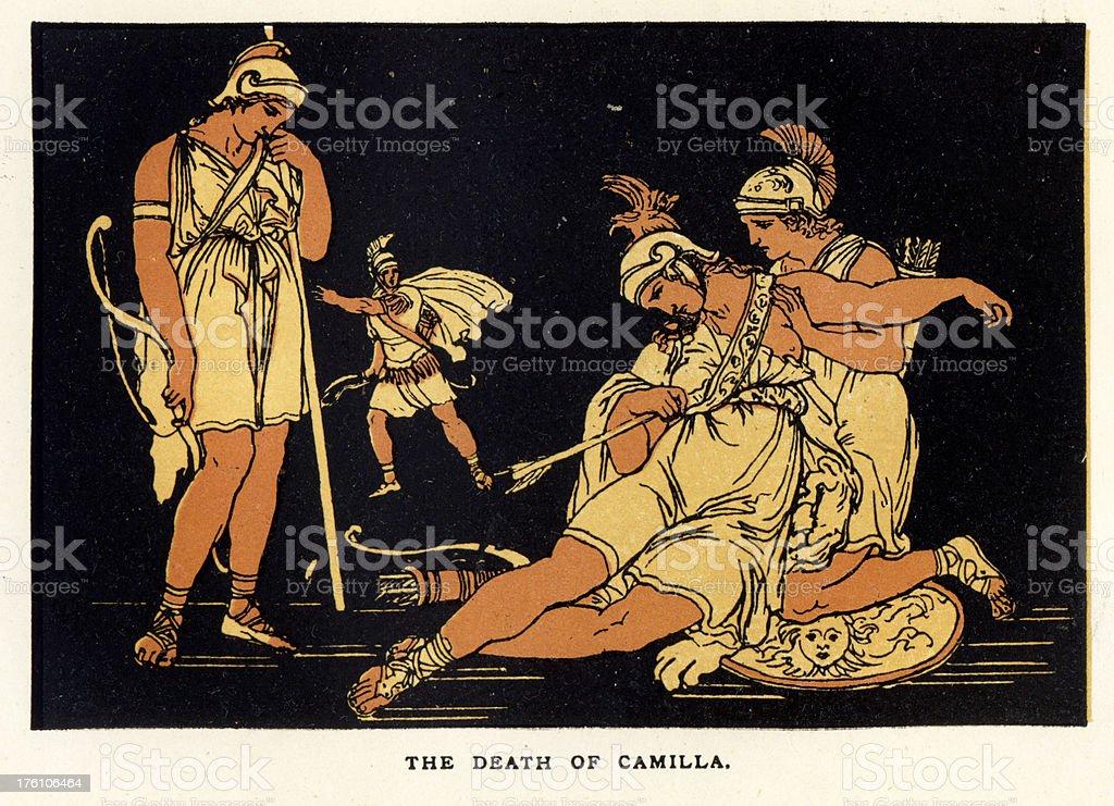 Death of Camilla royalty-free stock vector art