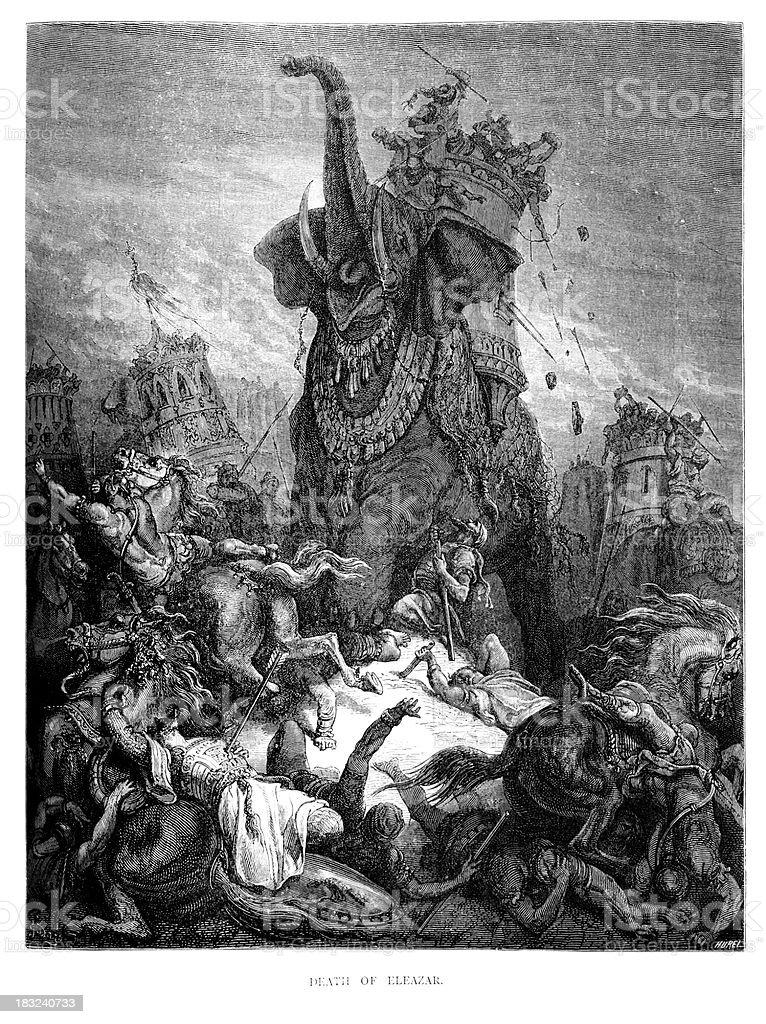 Death of Eleazar royalty-free stock vector art