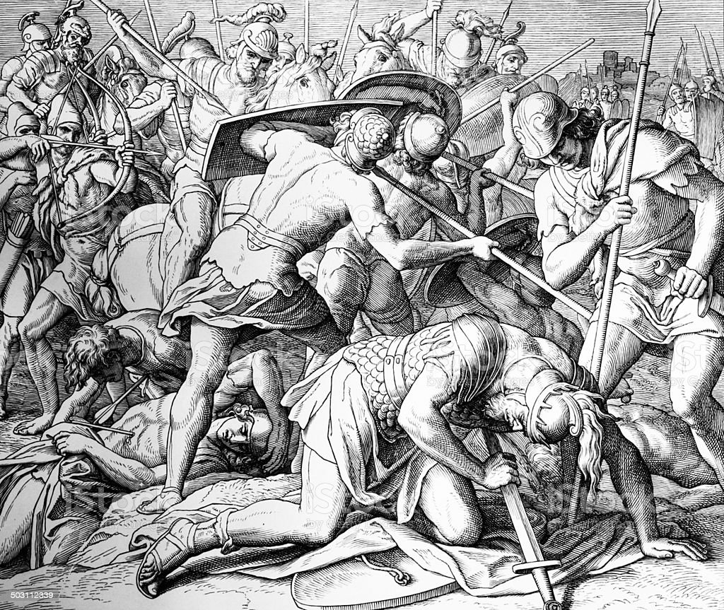 Death of Saul royalty-free stock vector art