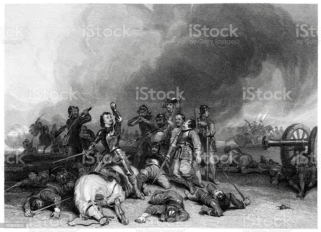 Death of the Earl Northampton vector art illustration