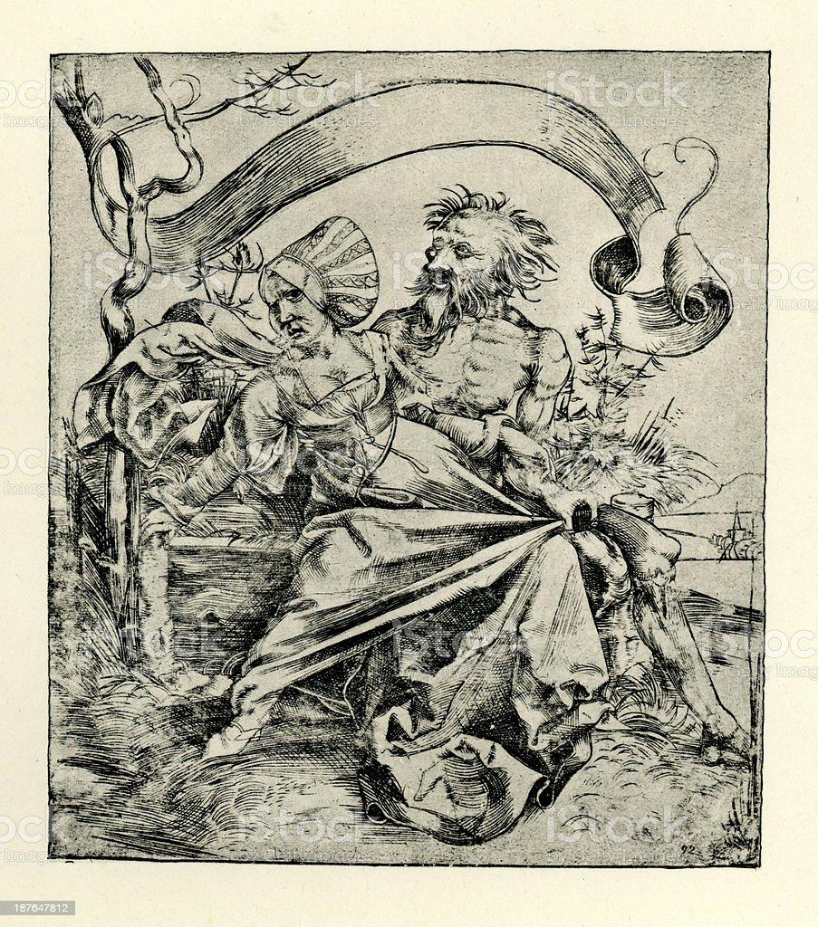 Death or Violent attack vector art illustration