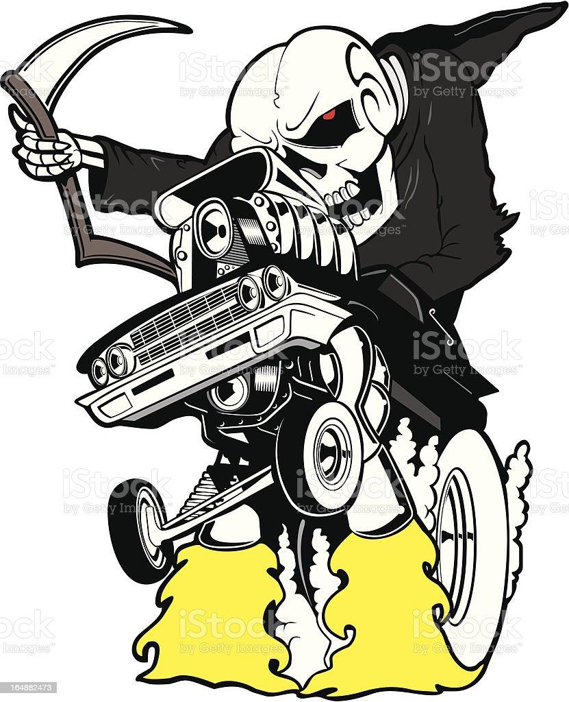 Death Wheeler! vector art illustration