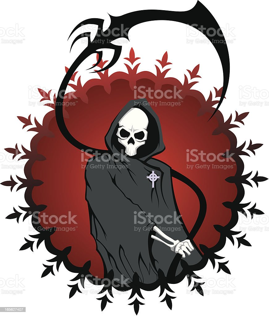 Death with stylized scythe royalty-free stock vector art