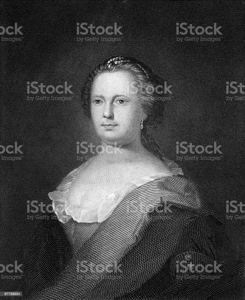 Deborah Read, Wife of Benjamin Franklin royalty-free stock vector art