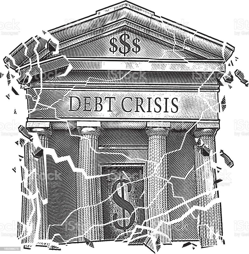 Debt Crisis vector art illustration