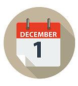 December 1 Calendar Icon