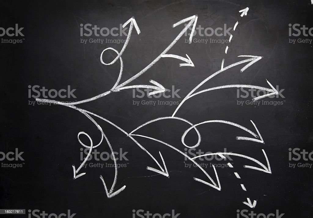 Decision making vector art illustration