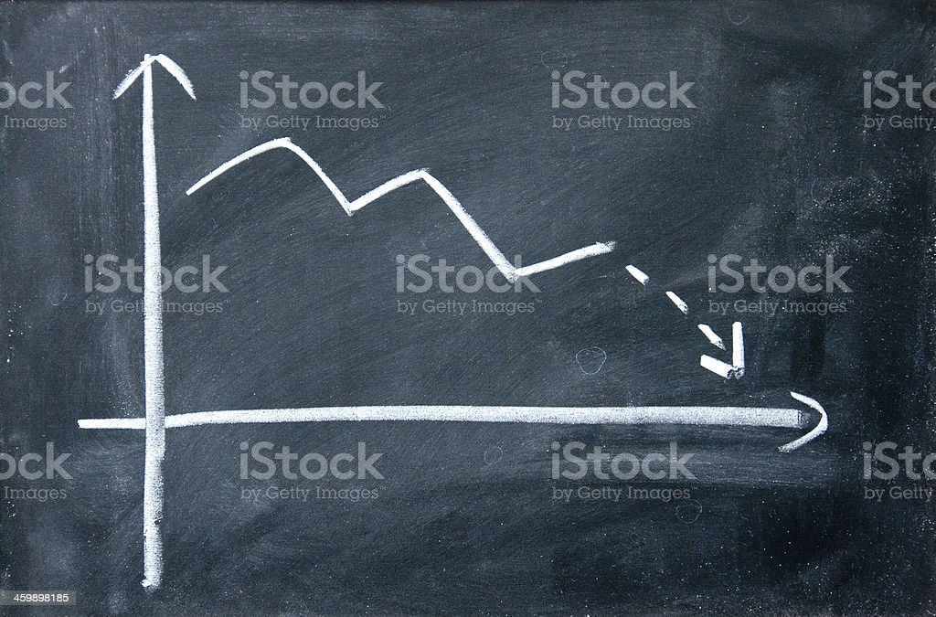 decline chart vector art illustration