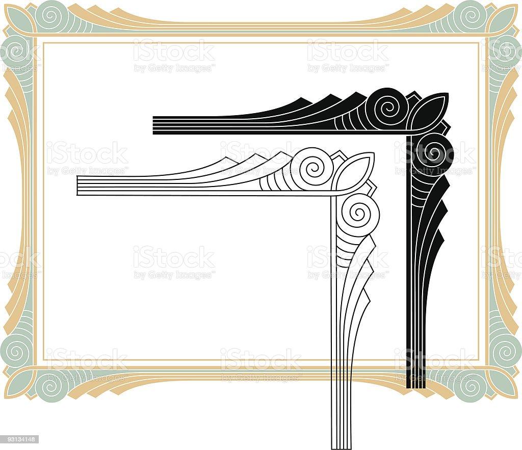 Deco Corner - vector royalty-free stock vector art