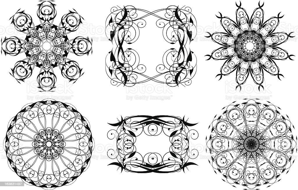 decor elements royalty-free stock vector art