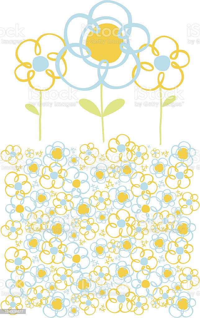 decor spring flowers royalty-free stock vector art