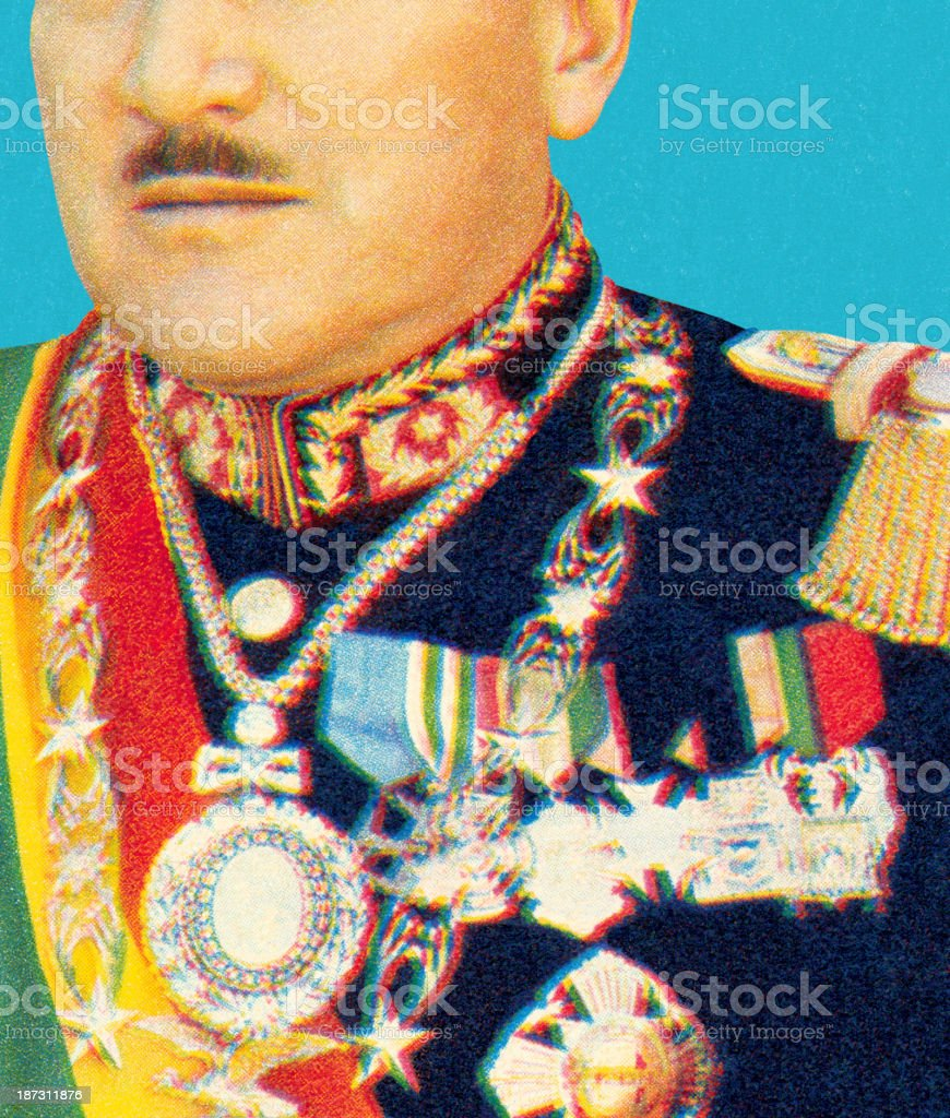 Decorated Man With Mustache royalty-free stock vector art